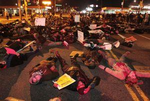 200 perform Die-In. (Photo by NJ.com)