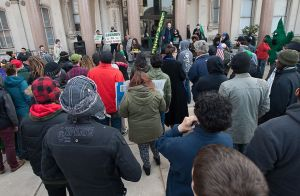 NJ Weedman and Jo Anne Zito speaking at the State House (picture from nj.com)