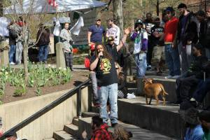 NJ Weedman speaking at Trenton Marijuana Festival. (Picture by Vyacheslav Young Diamond Rabinovitch)