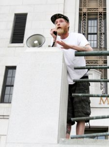 Jim Ross speaking at City Hall. (Photo by NJ.com)