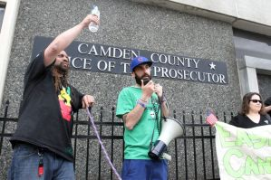 N.A. Poe speaking at the Camden Prosecutor office. (Photo by NJ.com)