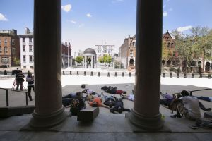 Die-In at State House. Photo from NJ.com.