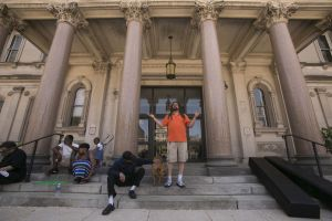 Weedman speaking at State House. Photo from NJ.com.