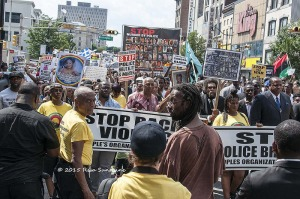 Cornell West and others marching in Newark, July 25. (From Flicker account of A. Jones)
