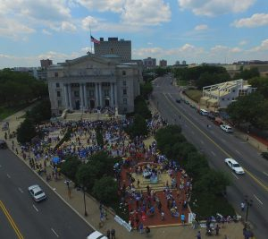 Thousands gather at Lincoln Monument in Newark, NJ, July 25, 2015.