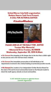 Sept 30, 2015, Trenton rally flyer.